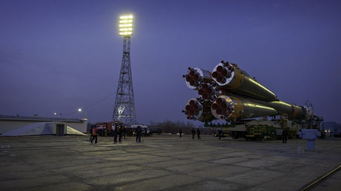 russian spaceship soyuz tma is ready for space travel
