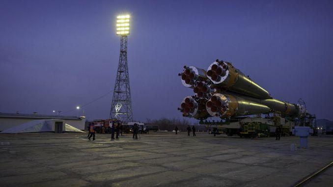 Das russische Raumschiff Sojus Tma ist bereit für die Raumfahrt