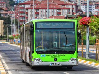 Die Nutzung öffentlicher Verkehrsmittel in Sakarya hat einen prozentualen Staubanteil.