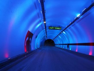 kilometer length of the tunnel in Turkey has reached