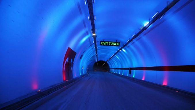kilometer længde af tunnelen i Tyrkiet har nået