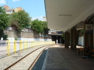 The lighting in the first railway remained empty over turkiyenin Station