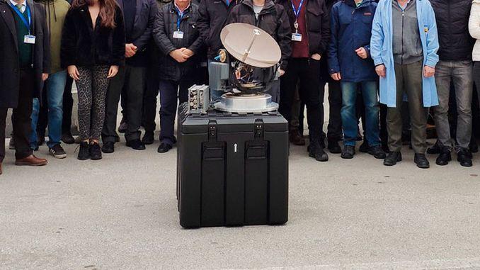 """Das von ASELSAN mit lokalen Einrichtungen entwickelte """"Ku Band Air Satellite Communication System"""""""