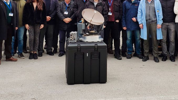"""Ku Band Air Satellite Communication System"" developed by ASELSAN with local facilities"