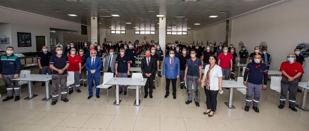 زيارة العيد إلى ESHOT من قبل الرئيس تونك سوير