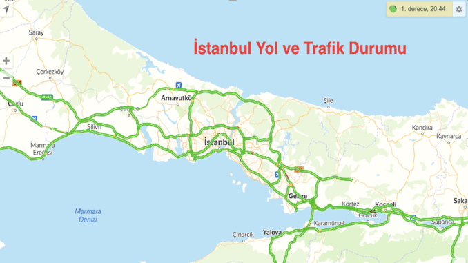 Istanbul road and traffic conditions