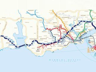 Kort over Metrobus Stops
