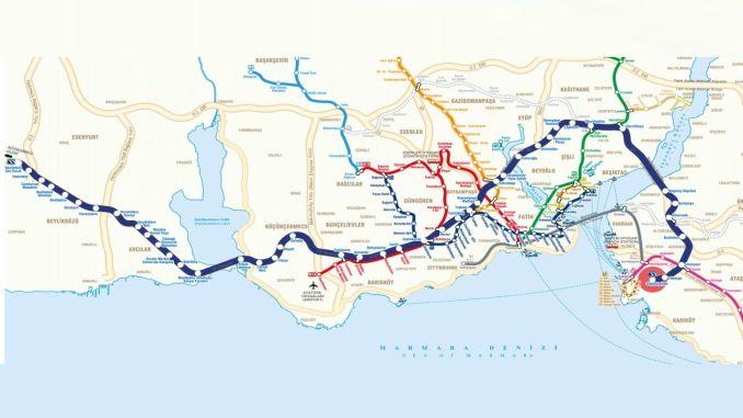 Metrobüs dayanacaqları xəritəsi