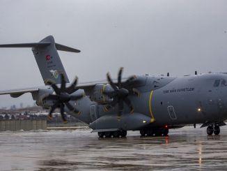 medical aid supplies goturen plane froze to ankara
