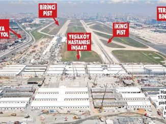 A hospital is placed on the billion runway of Ataturk airport