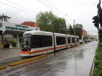 埃斯基謝希爾的新電車線路開始試駕