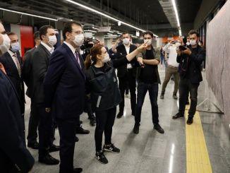 imamoglu mecidiyekoy mahmutbeyが地下鉄で試験を実施