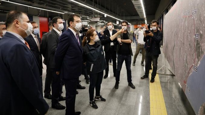 imamoglu mecidiyekoy mahmutbey ทำการตรวจสอบในสายรถไฟใต้ดิน