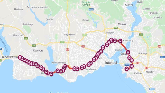 istanbul metrobus stops
