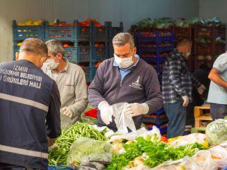 Kami mendukung solidaritas pengrajin pasar sayur dan buah Izmir.