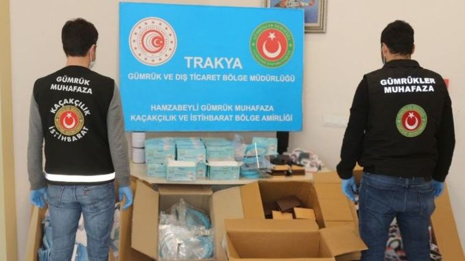 Thousand tons of masks and visors were captured in İzmir to produce tons of ethyl alcohol.