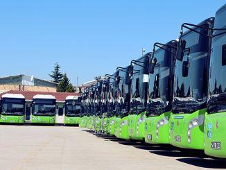 автобусҳои шаҳр дар як моҳ як миллион километрро тай карданд