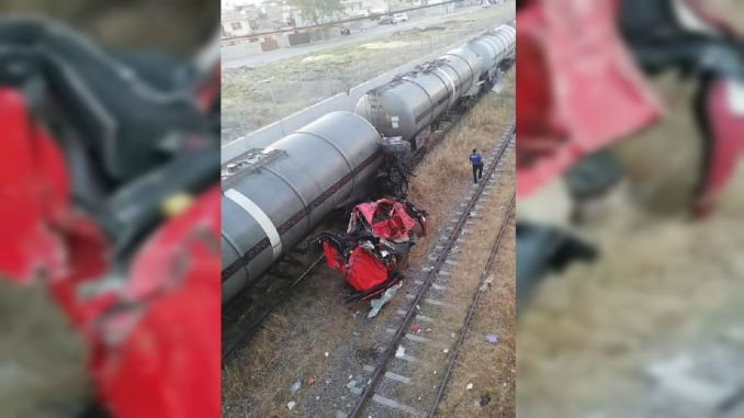 the top of the train that broke out of control in Mersin
