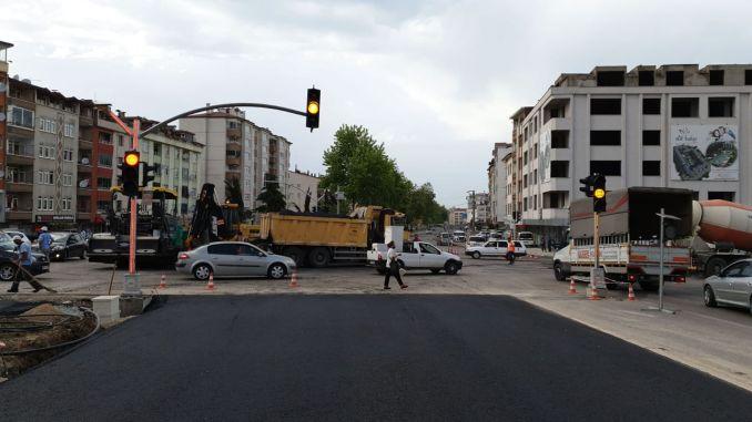 Sistem pensinyalan lalu lintas di persimpangan Mevlana diperbarui
