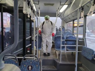 motas continues to disinfect the bus and trambus