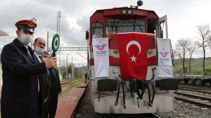 隨著samsun sivas鐵路線的通車,工作人員凍結到原來的位置