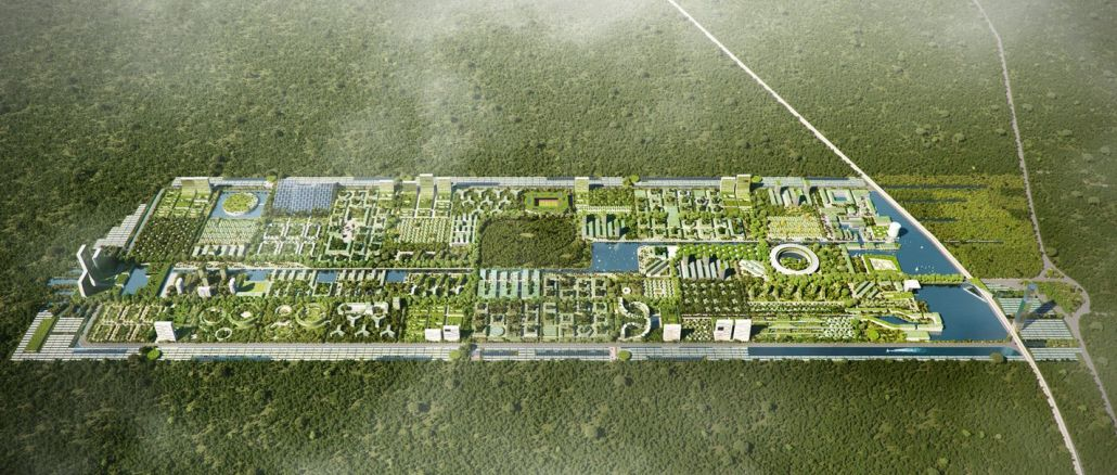 die erste weise Waldstadt der völlig eigenständigen Welt