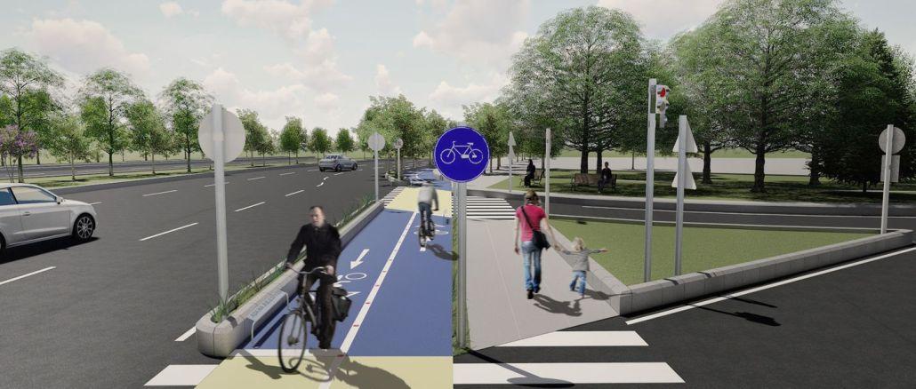 bin kilometre bisiklet yolu yapilacak