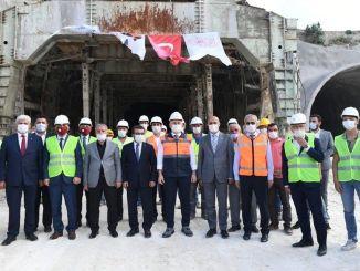 Minister untersuchte die Transportinvestitionen in die Charge Karaismailoglu