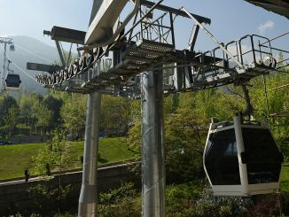 The cable car services to the ones going to Bursa