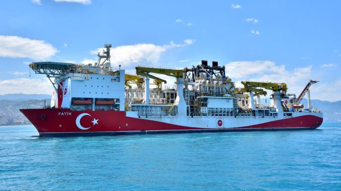 fatih drilling vessel in Trabzon
