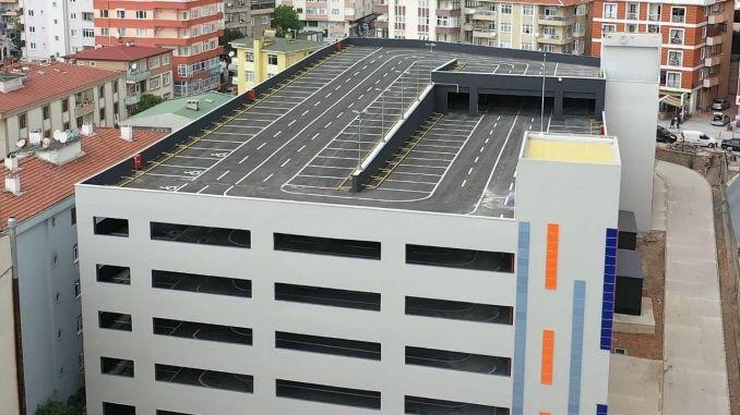 gebze parking lot service started