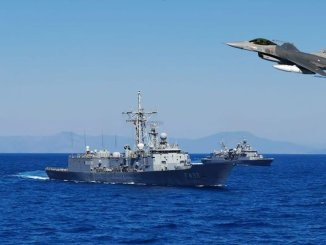 air and marine gennemførte åben havtræning ved at handle i Middelhavet