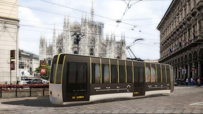 Το τραμ κοινωνικής απόστασης σχεδιάστηκε στην Ιταλία
