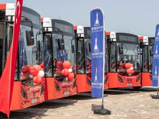New bus was added to the eshot fleet in Izmir