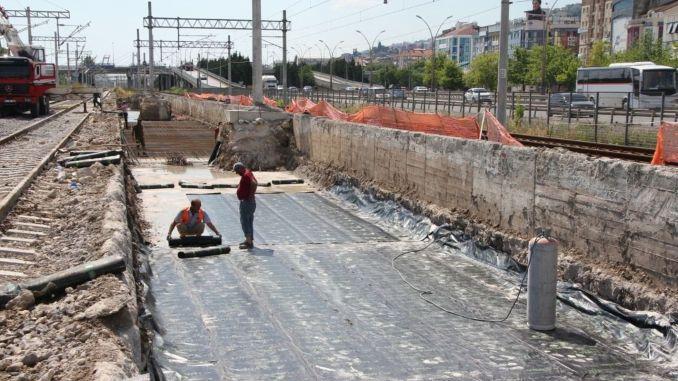 izmit korfez mahalle houses train station construction continues