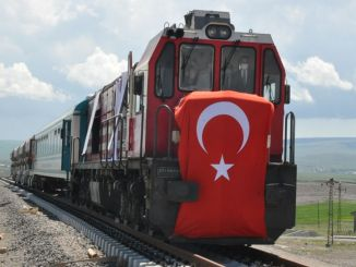 The first train came to the logistics center of Kars, the harbinger of abundance