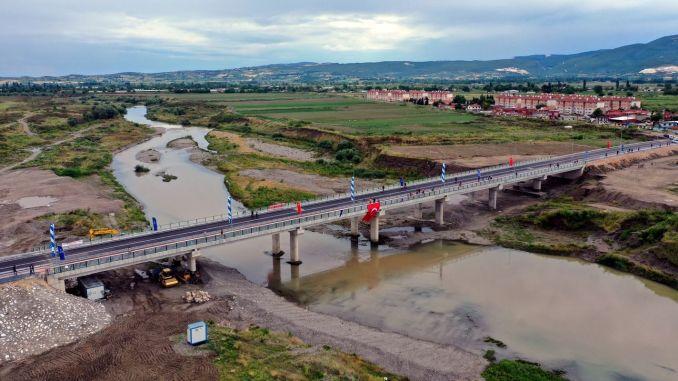 lala sahin pasa koprı bron öppnades för trafik