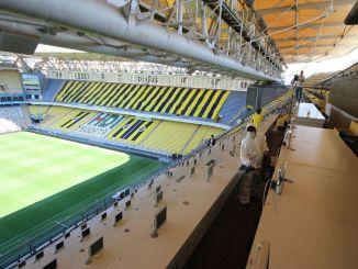 sukru saracoğlu stadionu dezinfeksiya edildi