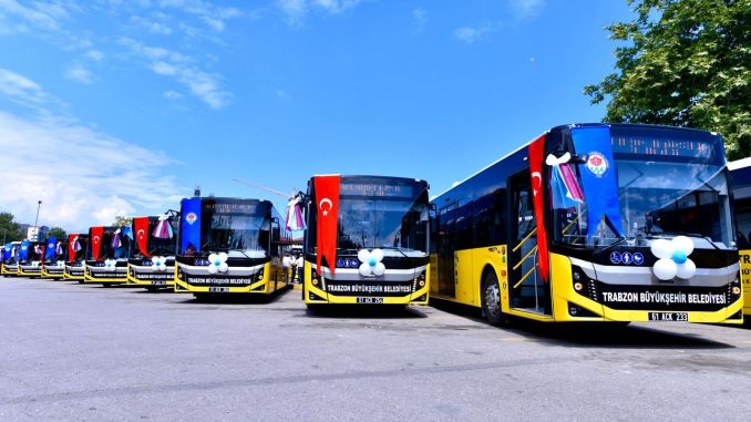 New bus was added to the Trabzon transportation fleet