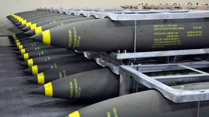 Török bombák áthatoló bombák szállítása
