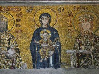 圣索非亚大教堂马赛克的导轨系统