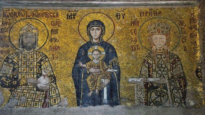Rail system for Hagia Sophia mosaics