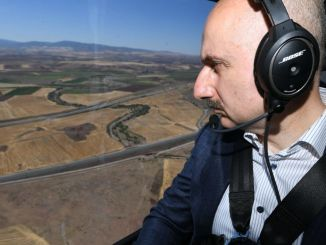 menteri dari karaismailoglu memeriksa proyek sara ankara dari udara