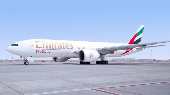 flight from emirates skycargo in three months