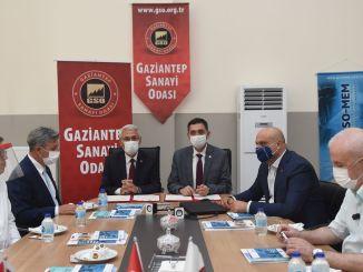 GAzİANTEP Industrie- und Feldkammer Istanbul Truthahn auf der Stärke der Fusion gebracht