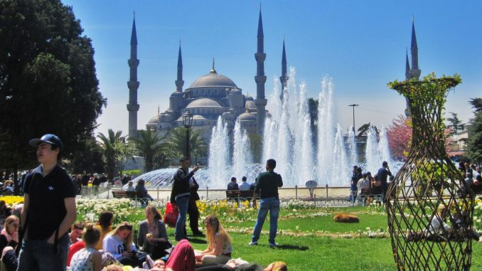 The number of tourists coming to Istanbul decreased by% compared to the previous year