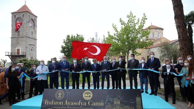 De Trabzon Ayasofya-moskee werd opnieuw geopend met het Sumela-kloosterstadium