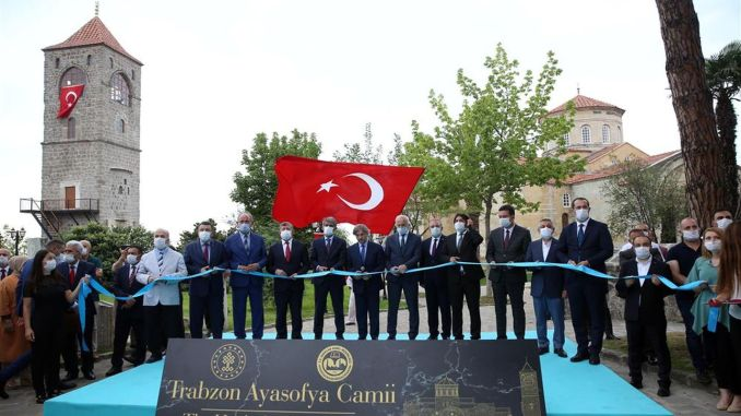 trabzon ayasofya mosque opened again with sumela monastry stage