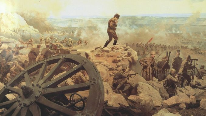 Battle of the epic Sakarya square written with the opinion of the Turkish nation