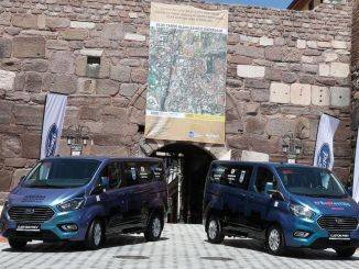 ankara turkiyenin first and only trip to the castle with local hybrid vehicle